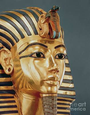 Egyptian Mummy Sculpture - The Funerary Mask Of Tutankhamun by Unknown