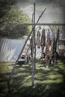 Photograph - The Fur Trader's Camp 1812 by Leslie Montgomery