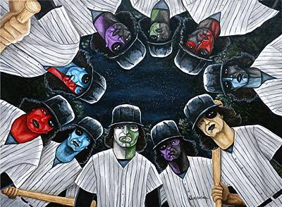 Art Print featuring the painting The Furies Game Over by Al  Molina