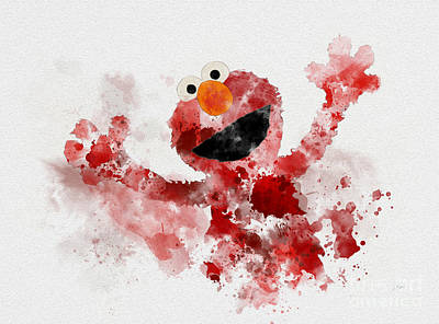The Furry Red Monster Art Print