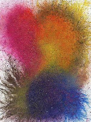 Fireworks Painting - The Fusion Of Endless Love And Light #676 by Rainbow Artist Orlando L aka Kevin Orlando Lau