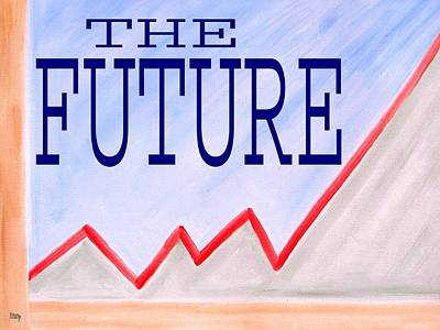 Chart Painting - The Future by Patrick J Murphy