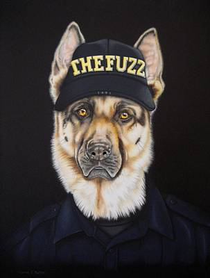Painting - The Fuzz by Karrie J Butler