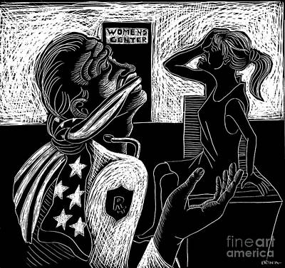 Drawing - The Gag Ruling by Brenda Kato