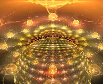 Digital Art - The Galactic Mirror Ball by Richard Ortolano