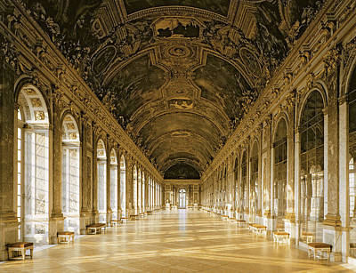 Versailles Photograph - The Galerie Des Glaces  Hall Of Mirrors  Versailles by Jules Hardouin Mansart