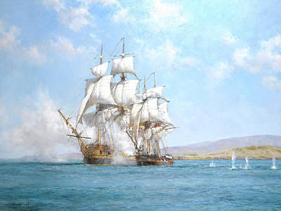 Water Vessels Painting - The Gallant Speedy by Montague Dawson