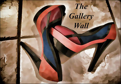 Photograph - The Gallery Wall Logo 4 by Ginger Wakem