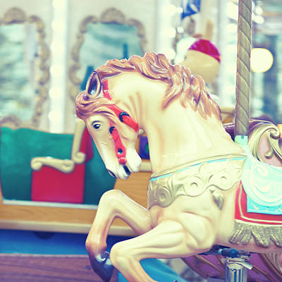 Photograph - The Galloper - Paris Carousel Print by Melanie Alexandra Price