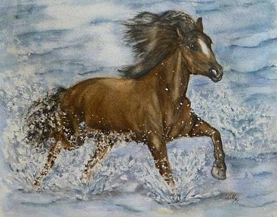 Painting - The Galloping Splash by Kelly Mills