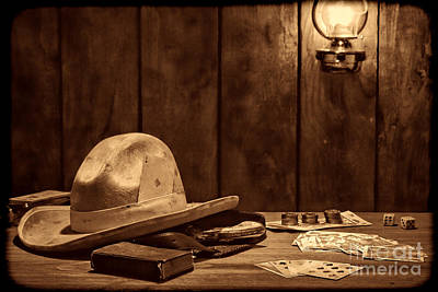 Photograph - The Gambler Hat by American West Legend By Olivier Le Queinec