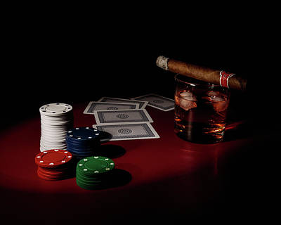 Poker Photograph - The Gambler by Tom Mc Nemar