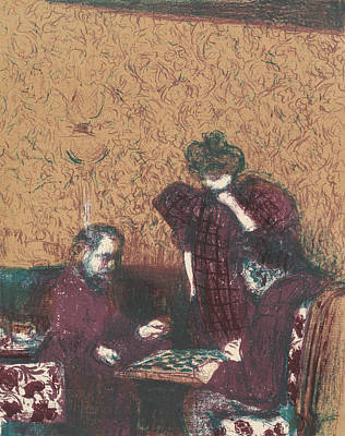 The Game Of Checkers, From The Series Landscapes And Interiors Art Print