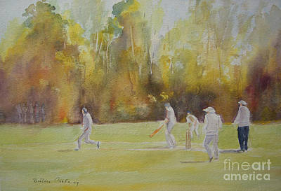 Painting - The Game Of Cricket by Beatrice Cloake