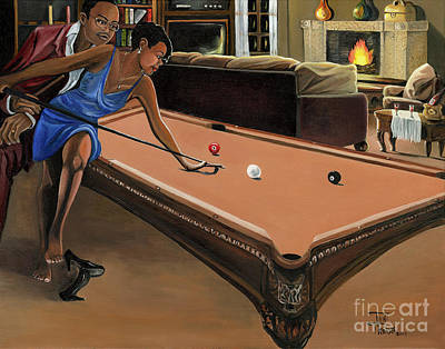 Billiard Balls Paintings Fine Art America - Pool table painting