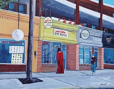Montreal Art Verdun Street Scenes Painting - The Gamekeeper by Reb Frost