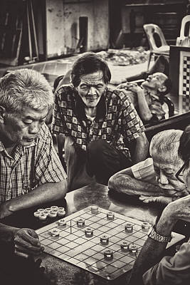 Old Time Feel Photograph - The Gamers by Benjamin Dupont