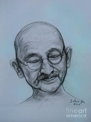 The Gandhi Head Original by Sukalya Chearanantana