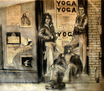 Chillin Drawing - The Gang by Albert Puskaric