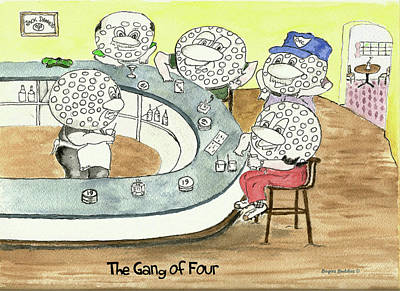 Sports Paintings - The Gang of Four by Imagery-at- Work