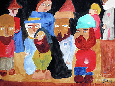 Painting - The Gang by Sandy McIntire