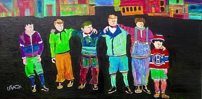 Litvack Painting - The Gang,best Friends by Michael Litvack