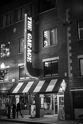 Photograph - The Garage Harvard Square Cambridge Ma Black And White by Toby McGuire