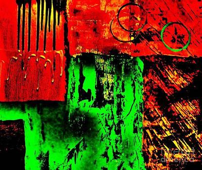 Drip Painting - The Garage by Marsha Heiken