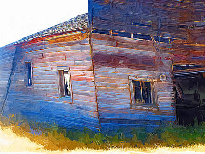 Art Print featuring the photograph The Garage by Susan Kinney