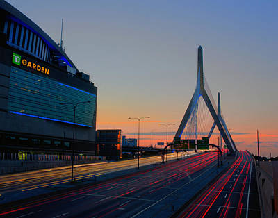Photograph - The Garden And The Zakim 028 by Jeff Stallard