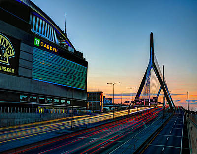 Photograph - The Garden And The Zakim 029 by Jeff Stallard