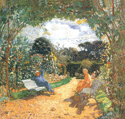Photograph - The Garden At Vaucresson by Edouard Vuillard