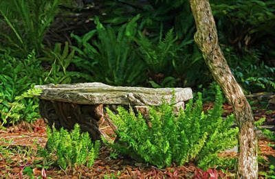 Photograph - The Garden Bench by HH Photography of Florida
