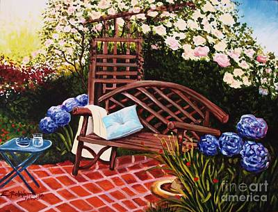 Painting - The Garden by Elizabeth Robinette Tyndall