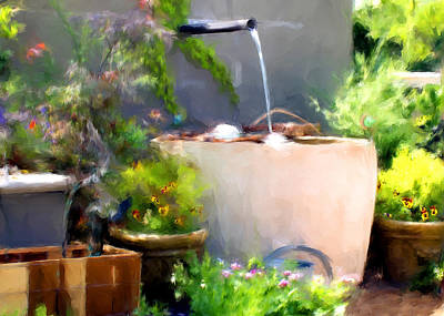 Digital Art - The Garden by Fred Baird