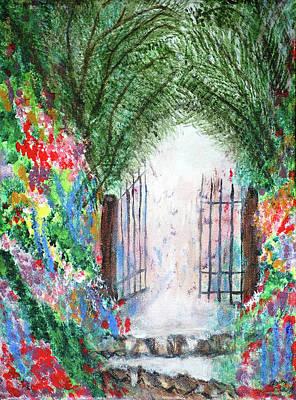 The Garden Gate Art Print by Ann Ingham
