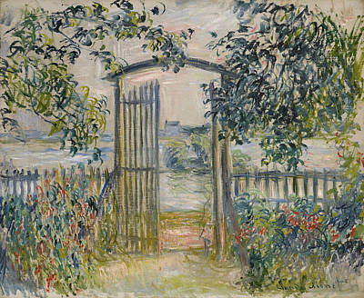 Painting - The Garden Gate At Vetheuil by Claude Monet