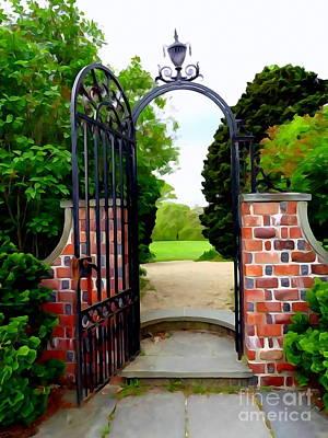 Digital Art - The Garden Gate by Ed Weidman