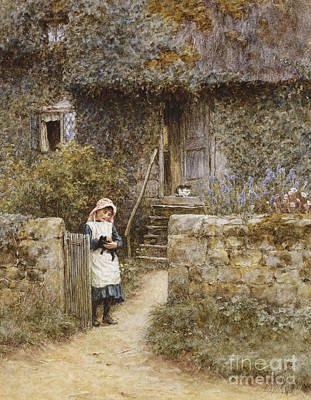 Building Exterior Painting - The Garden Gate by Helen Allingham