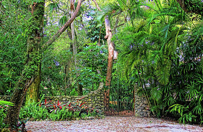 Photograph - The Garden Gate by HH Photography of Florida