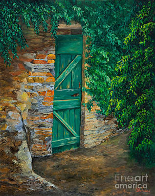 The Garden Gate In Cinque Terre Art Print by Charlotte Blanchard