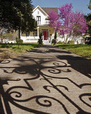 The Garden Gate Shadow Art Print by Charlie Osborn