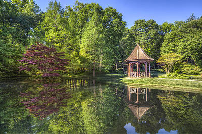 Sunset By The Lake Photograph - The Garden Gazebo by Debra and Dave Vanderlaan