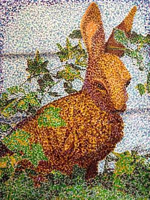 Drawing - The Garden Hare by Angela Davies