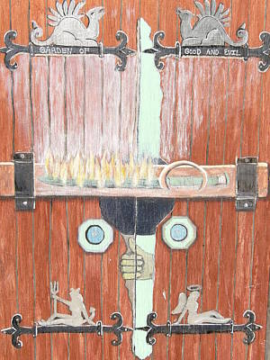 Becky Mixed Media - The Garden Of Edan's Door by Becky Jenney