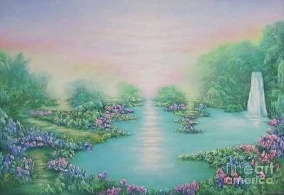Mystical Landscape Painting - The Garden Of Eden by Hannibal Mane