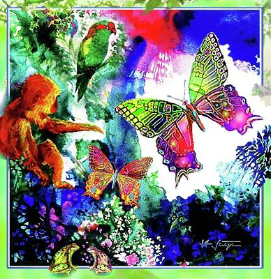 Mixed Media - The Garden Of Eden by Hartmut Jager