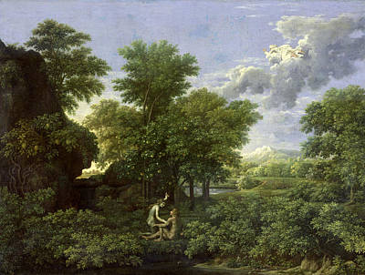The Garden Of Eden Art Print by Nicolas Poussin