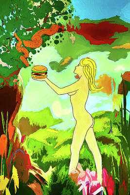 Digital Art - The Garden Of Eden Revisited by John Haldane