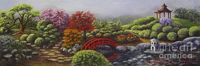 The Garden Of Koan Art Print by Laurie Golden